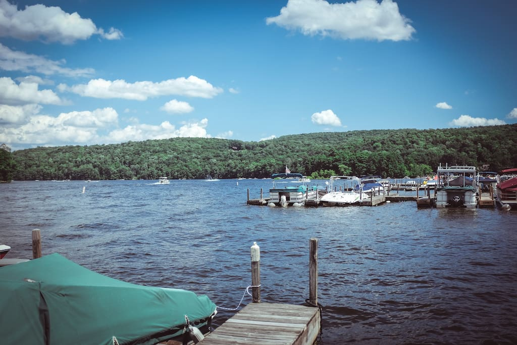 A typical Saturday/Sunday on Lake Wallenpaupack.
