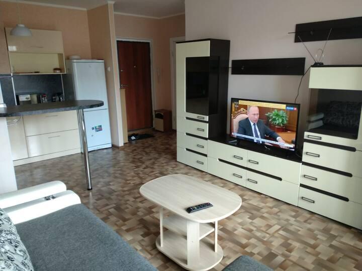 Уютная двухкомнатная квартира в Серебряном бору