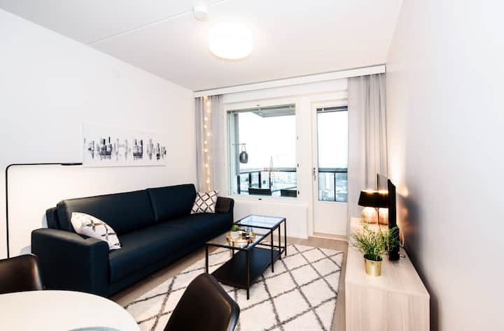 Stylish two room apartment with sauna+free parking
