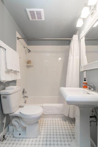 Recently remodeled bathroom.