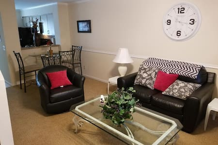Enjoy a full Condo with full kitchen and laundry.
