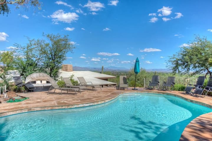 Tranquil Desert Estate w/ Stunning Panoramic Mtn Views Pool & Spa ❤ by AvantStay