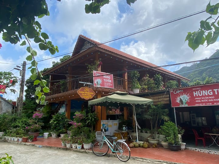 Lotus Homestay is very newly-built 2 storey hostel