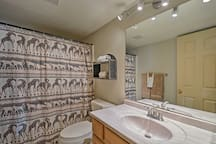 Freshen up in one of 2 bathrooms!