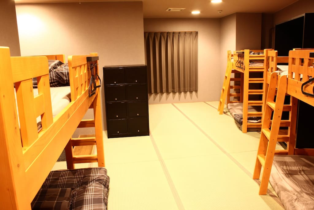 3 Bunk Beds with Locker