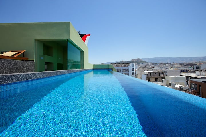 2Bdrm Apt with pool- Athens Center (3rd floor)