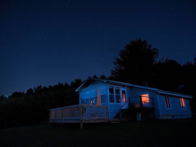 Bally Meade under a starry sky.