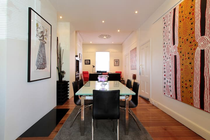 Hobart CBD 3 bedroom sleeps 6 stylish city retreat