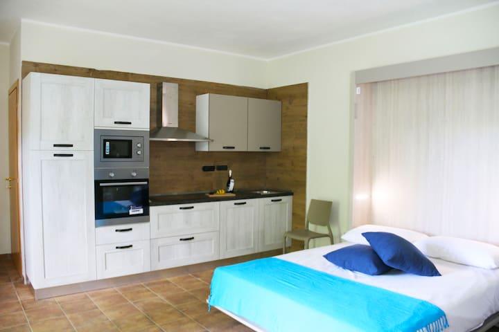 Appartamento 2 posti con camino, giardino e barbeq