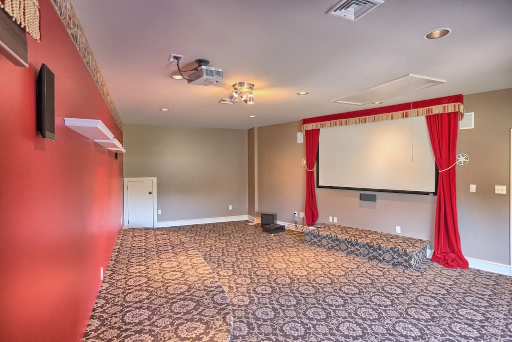 This is the tv/movie room that is available for any guest that stays, also located on the second floor..it is now furnished, too!