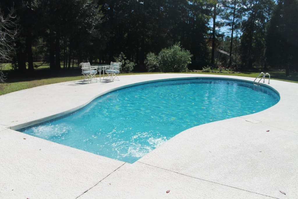Swimming pool to enjoy summer in hot SC! Redone 2018.