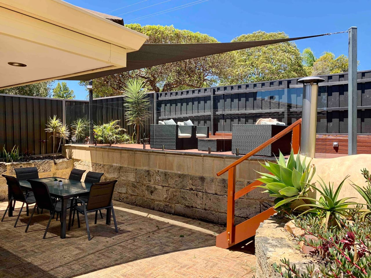 Outdoor entertaining Area: upper and lower deck.