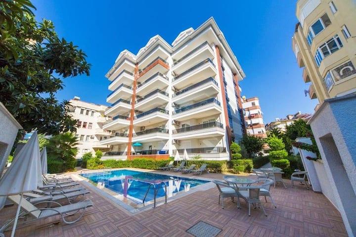 12 Пляж Клеопатра 250м Апартаменты 1+1