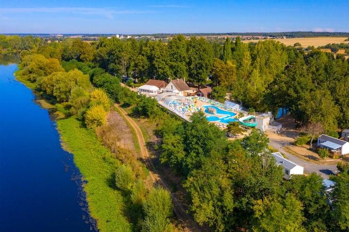 Mobilhome camping4* Le Parc des Allais-piscines