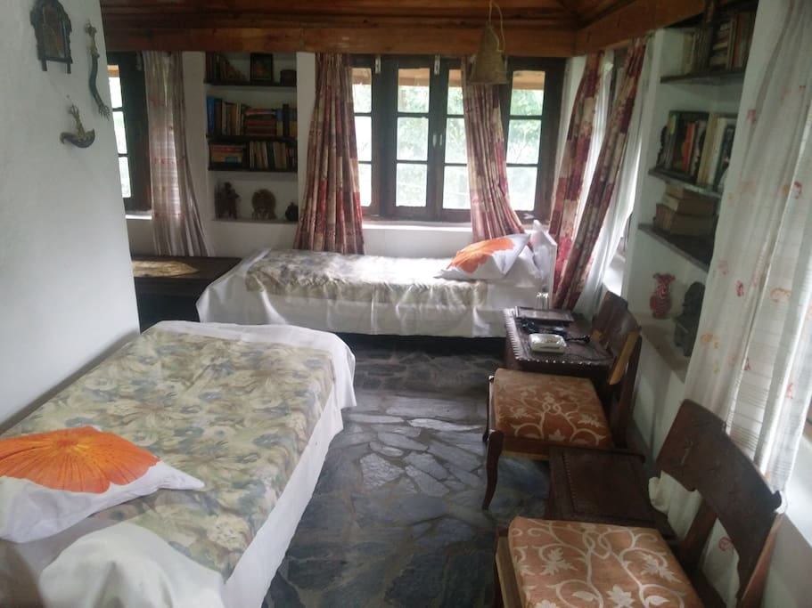 Interiors of the second bedroom with twin beds