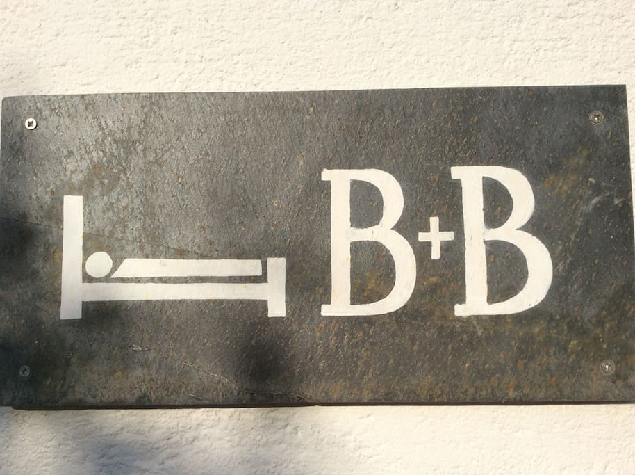 Look out for B&B sign on the wall
