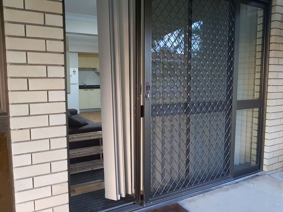 Entry to the unit in Robertson Airbnb unit