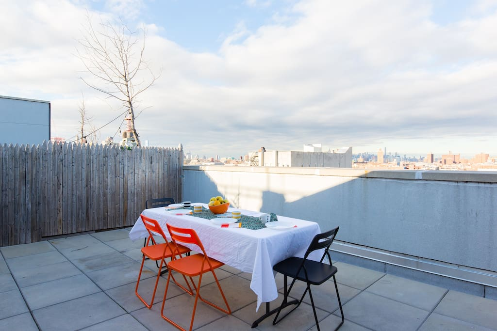 Private terrace with Manhattan view