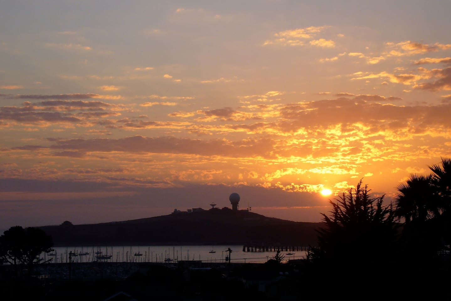 sunset at Princeton harbor- taken from our home upstairs