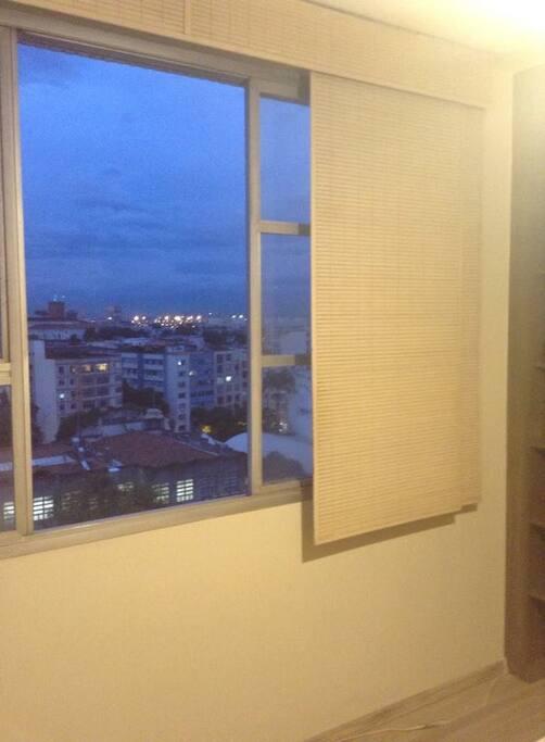 vista de um dos quartos