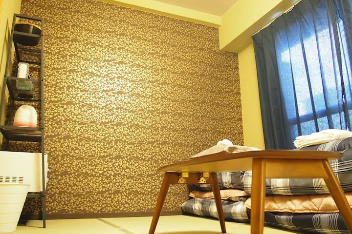 4F-402 Japanese tatami room,Shinsaibashi 10minWifi - Chūō-ku, Ōsaka-shi - Apartemen