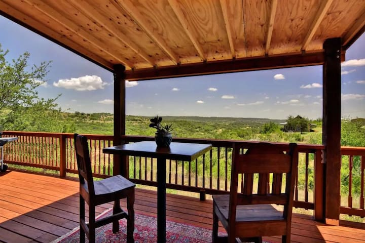 Enjoy the unspoiled views of Texas hill country.