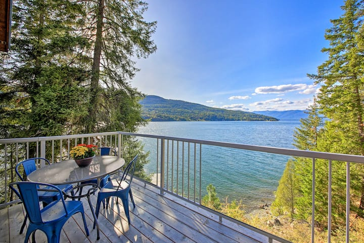 Lake Pend Oreille Home w/Dock & Paddle Boards