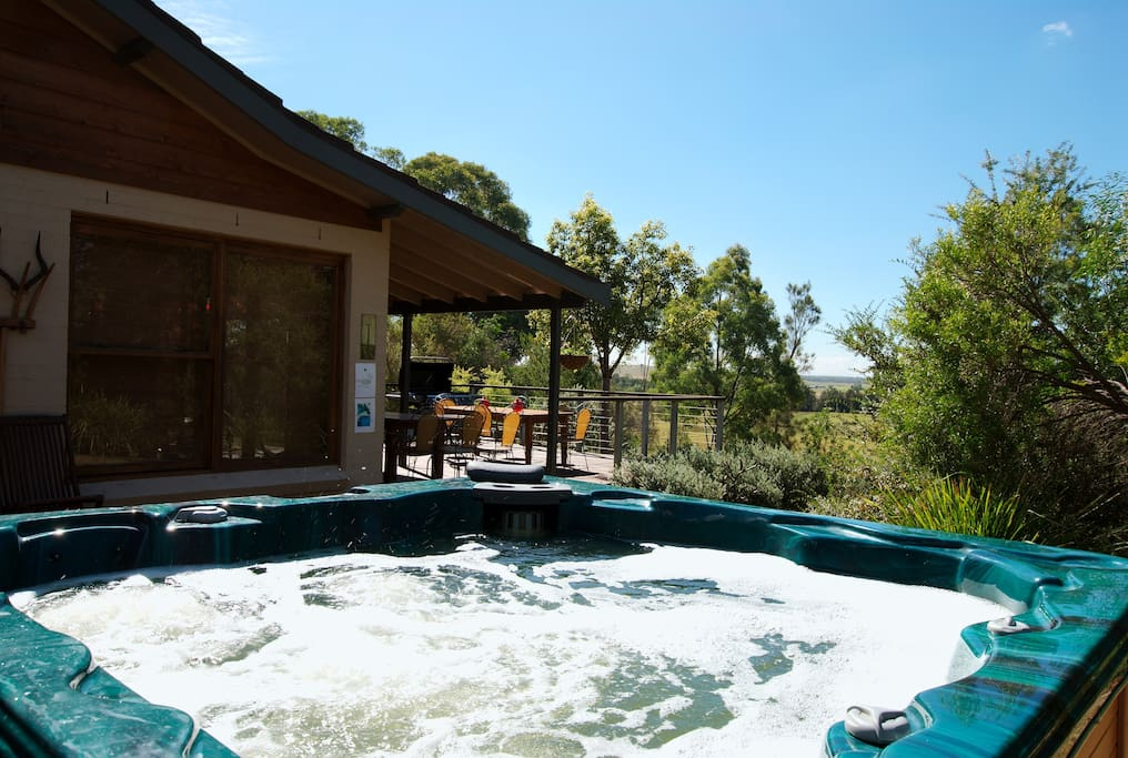 Relax in the Spa under the stars