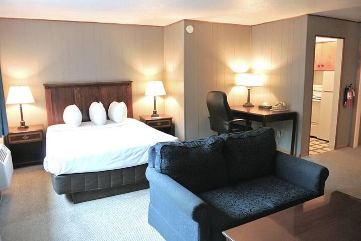 Studio Kitchenette with 1 Queen Bed