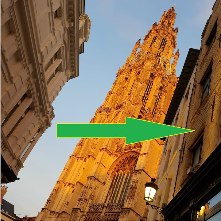 Cathedral Triplex Loft. In Heart of Antwerp