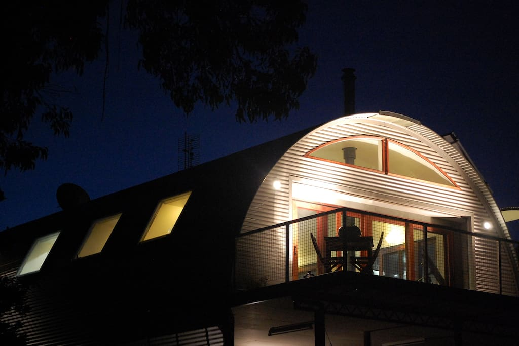 Cocoon House by night