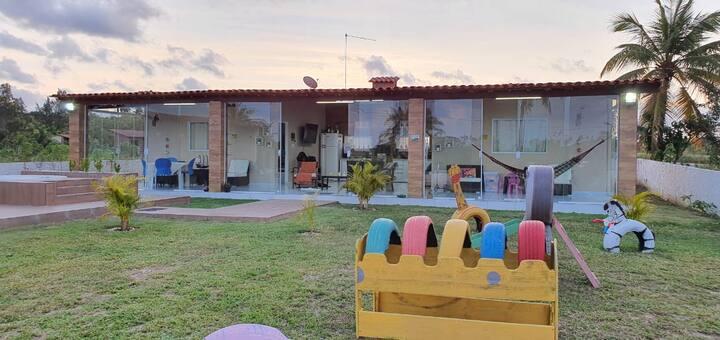 Casa Área de lazer no Loteamento Chácara de Porto