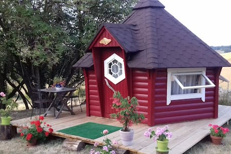 Dormir dans une cabane kota finlandaise,belle vue. - Mauvezin-sur-Gupie - 통나무집