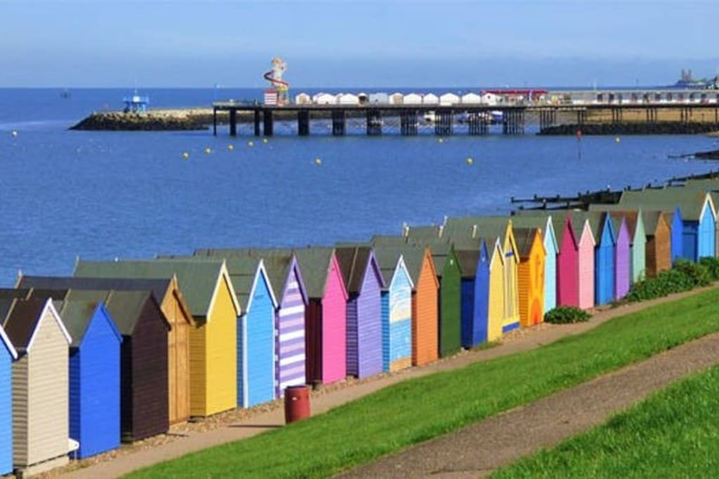 Beach Huts by the Herne Bay Pier, 2 miles