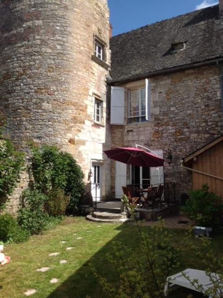 Charming Elegant Towered House In Pretty Turenne