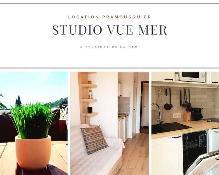 Studio vue mer-2 personnes-rénové en 2020