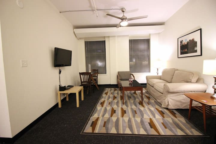 """""""Living/Dining - Boston Furnished Rental, Downtown"""""""