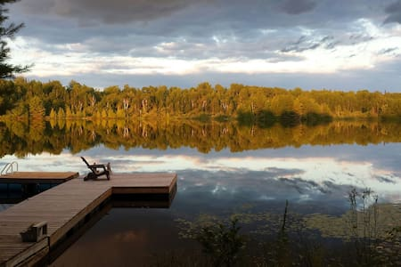 Rustic Lakeside Cabin SmQuiet Lake Luxury Camping.
