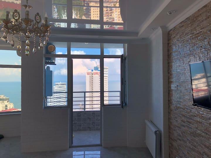 Yalcin Star Residence Новая квартира Вид на море