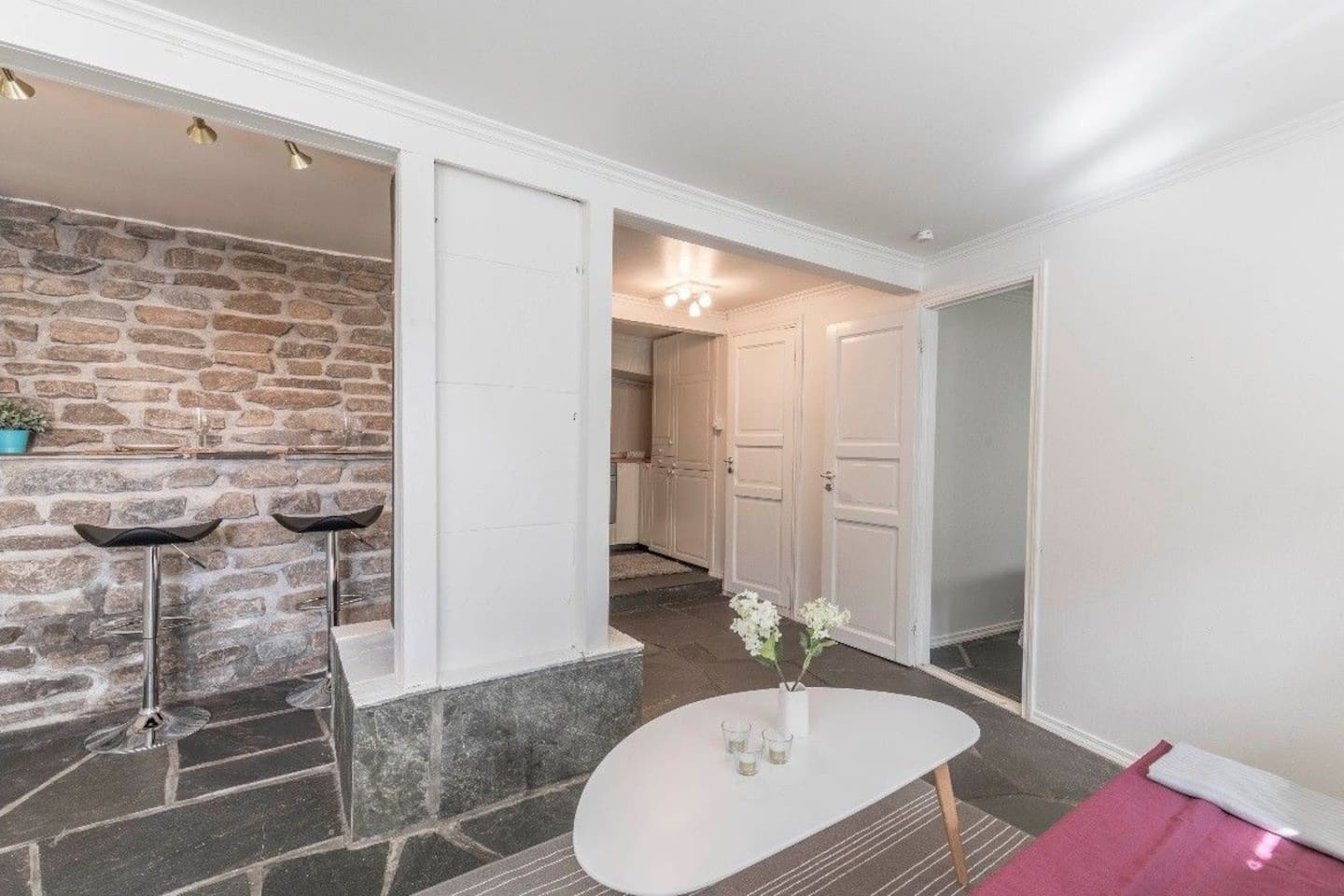 Entering the apartment, you'll experience the cozy and intimate feel of the apartment.