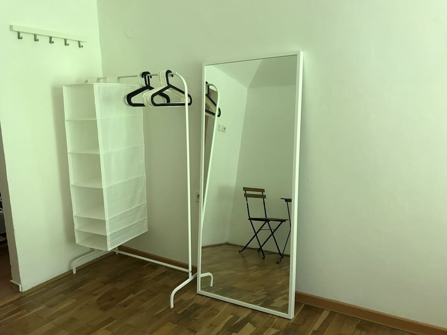 Bedroom: Rack for your clothes.