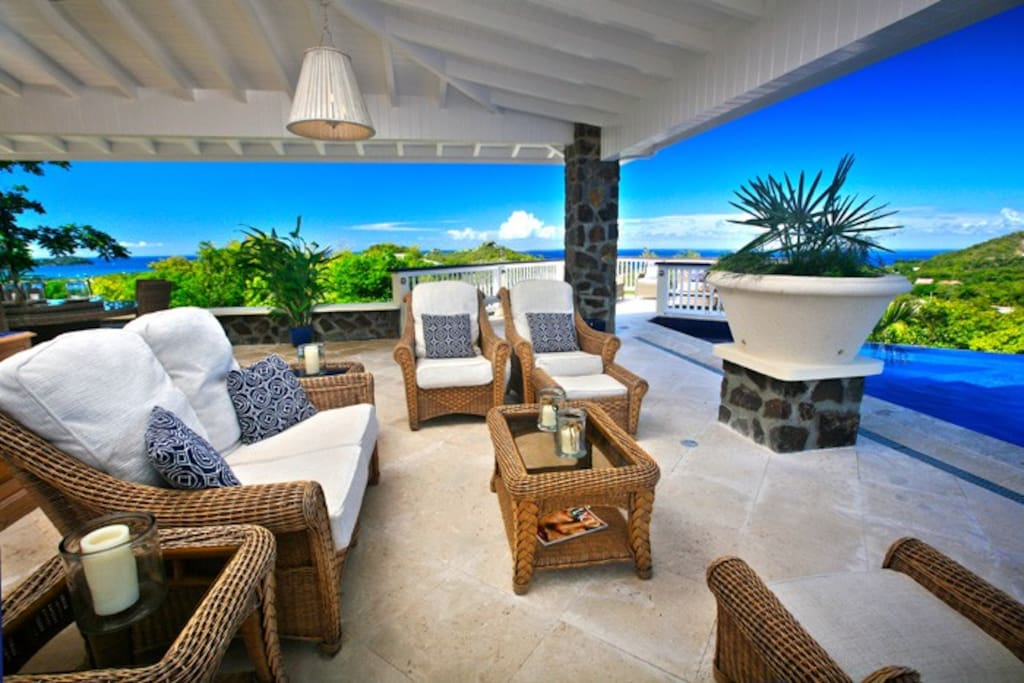 Lounge area overlooking Infinity Pool and panoramic views