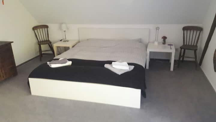 Loft bedroom in shared flat