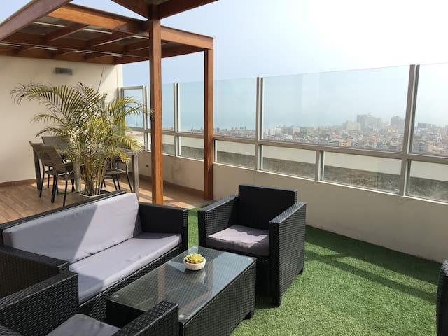 Apartment ,✈close the Airport &15 min Miraflores