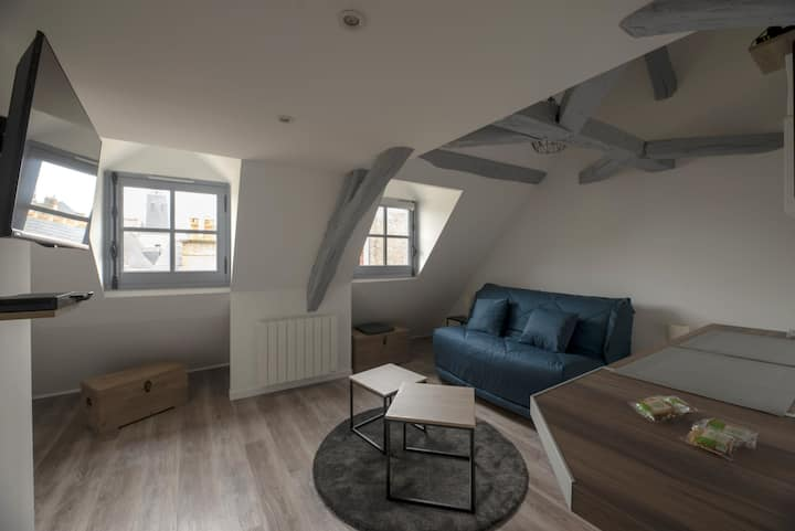 AUTHENTIC STUDIO IN THE HISTORIC CENTER OF RENNES