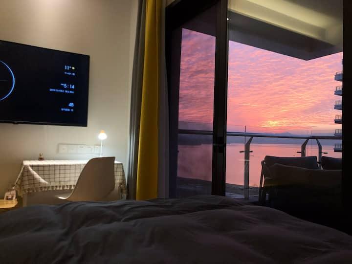 【湖光里】太平湖湖景双床房免费停车