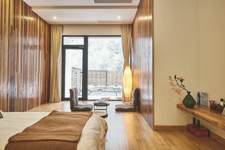 山景庭院亲子套房 茶室 大空间卫浴 85平超大房间 碧坞龙潭景区内/山语