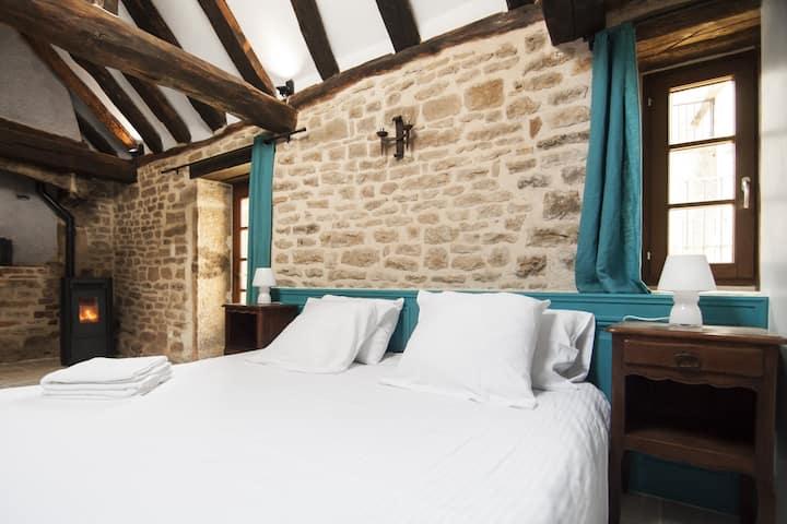 Double room-Exclusive-Ensuite-Courtyard view-Maisonnette indépendante