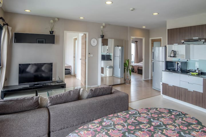 Enjoy your leisure time in this spacious living room.