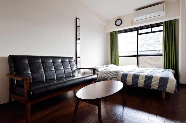 5min. JR NambaST 3PPL portable wifi for free - Osaka - Apartamento
